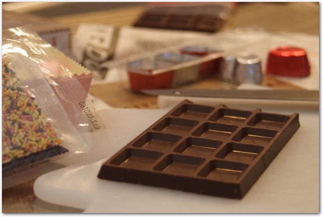 手作りチョコの材料と道具