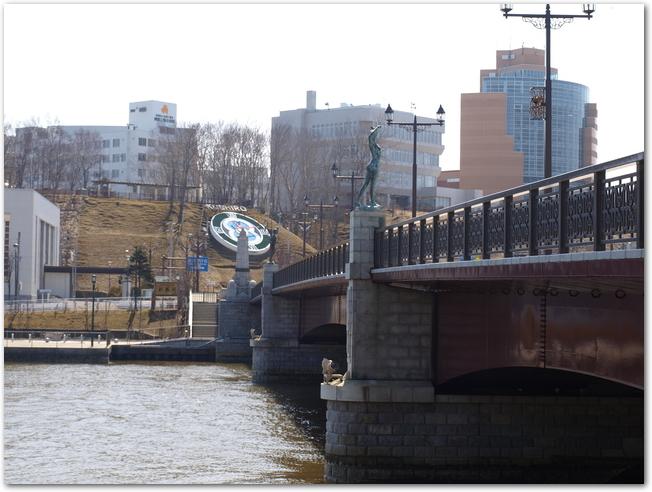 幣舞橋ごしに見る釧路生涯学習センター