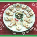 雪だるまのホワイトチョコサンドクッキー