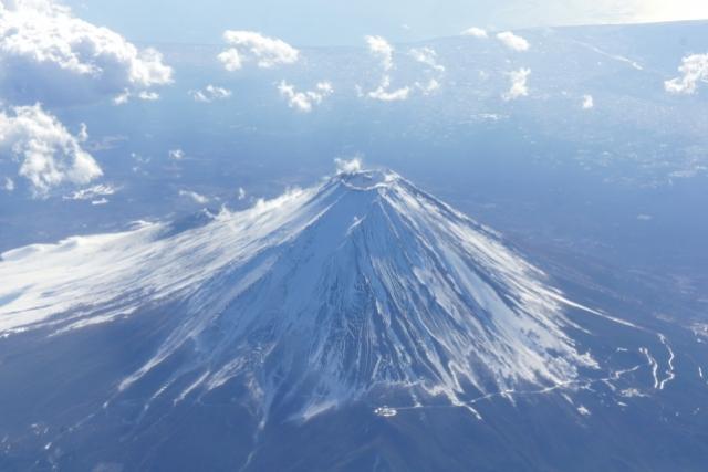 俯瞰の富士山
