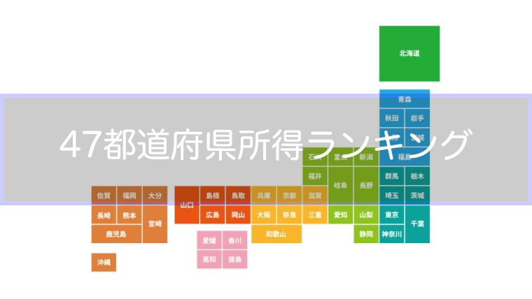都道府県所得ランキング2017